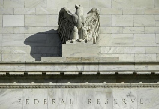 A detail from the front of the United States Federal Reserve Board building is shown in Washington, in this October 28, 2014 file photo. REUTERS/Gary Cameron/Files
