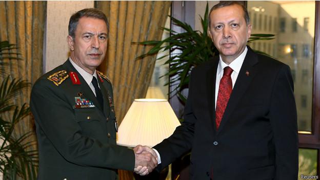 مقتل رئيس الاركان التركي و اردوغان يتوعد الانقلابيين