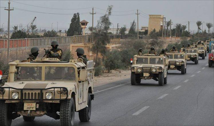 الجيش المصري يقضي علي 15 تكفيريا برفح