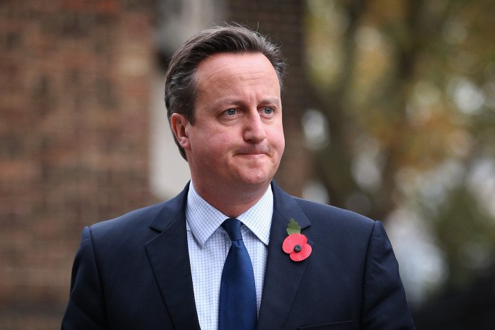 LONDON, ENGLAND - NOVEMBER 03:  British Prime Minister David Cameron arrives at St Georges Cathedral for a memorial service for former Liberal Democrat leader Charles Kennedy on November 3, 2015 in London, England. Mr Kennedy died at his home in Fort William on 1 June at the age of 55 after suffering a major haemorrhage as a result of his battle with alcoholism.  (Photo by Dan Kitwood/Getty Images)