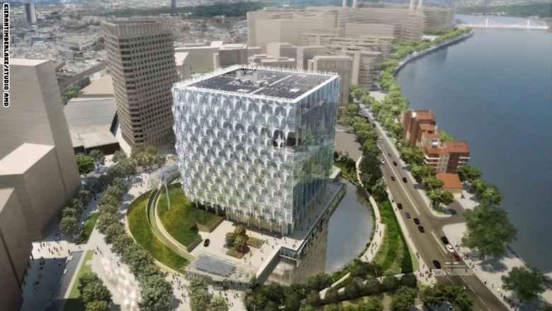تصميم السفارة الامريكية فى لندن يثير ضجة كبيرة