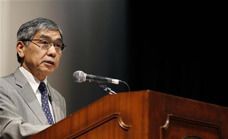 هاروهيكو كورودا رئيس البنك الآسيوي للتنمية يتحدث في منتدى بسنغافورة يوم 22 يونيو حزيران. تصوير: بابلو سانشيز - رويترز