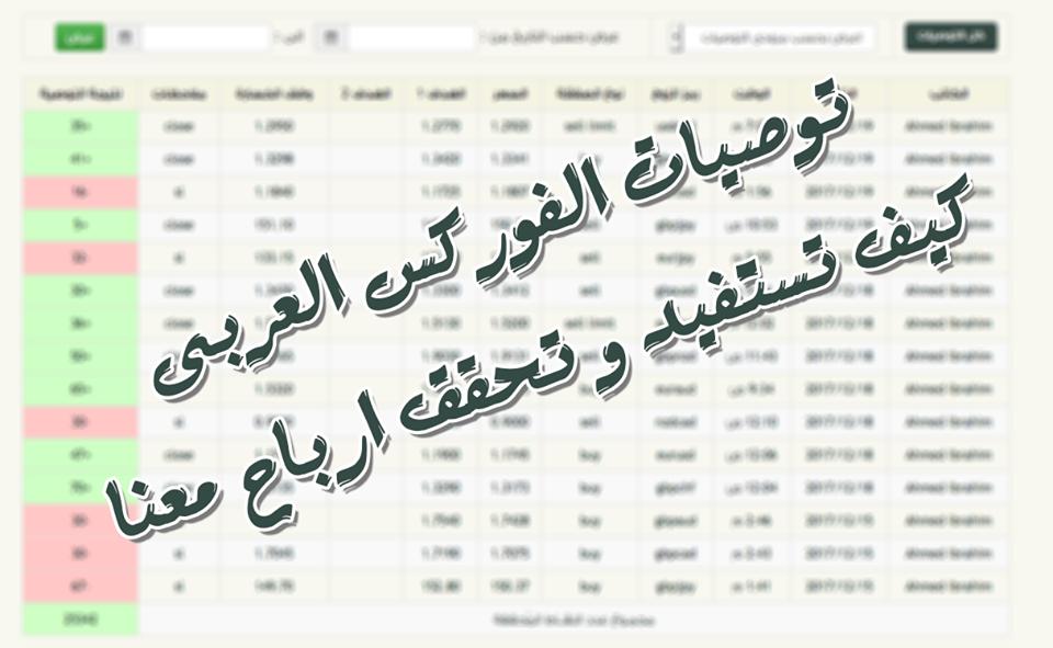 توصيات الفوركس العربى , كيف تستفيد وتحقق أرباح معنا