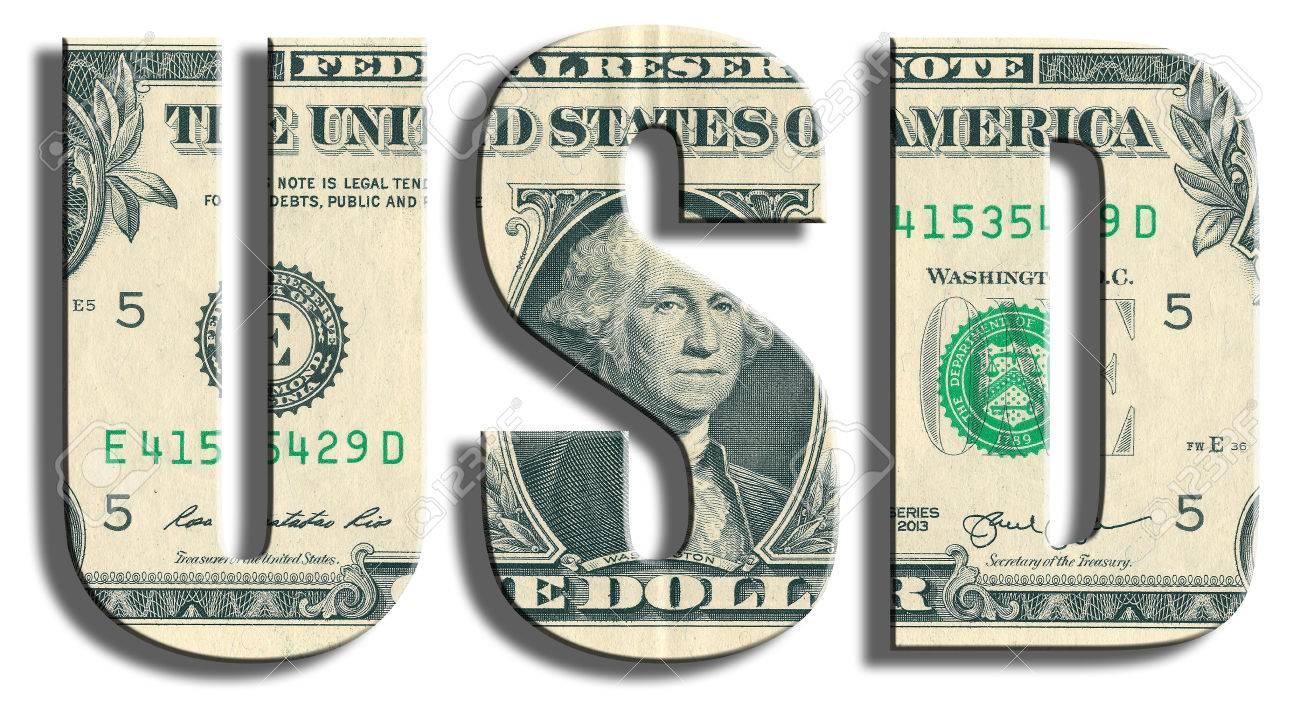 USD - American Dollar symbol. US Dollar texture.