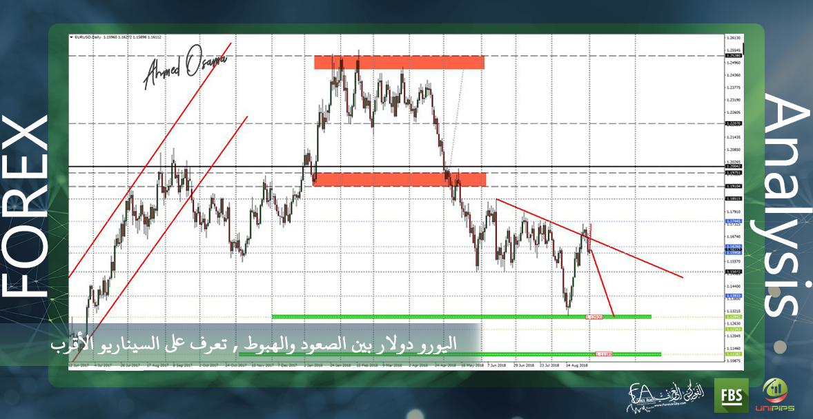 اليورو دولار بين الصعود والهبوط , تعرف على السيناريو الأقرب .