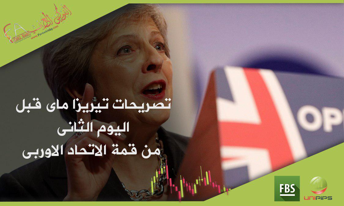 تصريحات تيريزا ماى قبل اليوم الثانى من قمة الاتحاد الاوربى